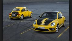 The Volkswagen Beetle GSR has gone on sale in Europe, marking 40 years since the original GSR debuted on the European market. First seen at the 2013 Chicago auto show in February, the new Volkswagen . Volkswagen New Beetle, Auto Volkswagen, Beetle 2014, Kdf Wagen, Chicago Auto Show, Black Racer, Vw Touareg, Vw Beetles, Autos