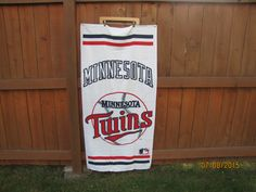 vintage Minnesota Twins baseball beach towel. dead stock. NWOT. made in USA by VintageTins on Etsy