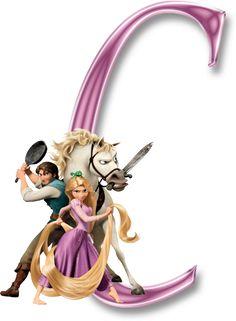 Alfabeto de Enredados (Rapunzel).   Oh my Alfabetos!