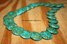 Mosaic Turquoise Beads  Lentil Beads  by TwoFeathersJewelry, $6.00