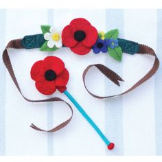 meadow flower fairy crown and flower wishing wand by sew heart felt | notonthehighstreet.com