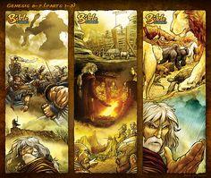 Bible Stories Comic Strips - Genesis 6-7 Noah p1-3 by eikonik.deviantart.com on @DeviantArt