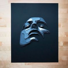 Layered Paper Portraits by Shelley Castillo Garcia - Inspiration Grid Art Journal Inspiration, Design Inspiration, Monochromatic Art, Illustration Art, Illustrations, Paper Artwork, Art For Art Sake, Kirigami, Portrait Art