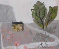 David Pearce Paintings As The River Meanders Painting