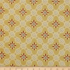 Jo Morton Charleston Daisy Chain Orange from @fabricdotcom  Designed by Jo Morton for Andover, this cotton print is perfect for quilting, apparel and home decor accents.  Colors include cream, dark brown, gold and sienna.
