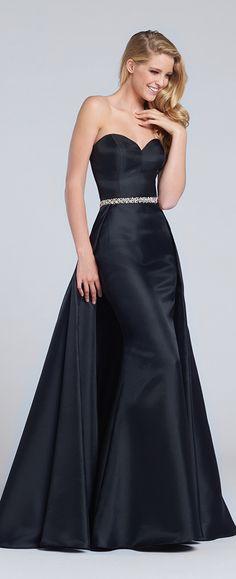 1bf91974f83 Prom Dresses 2017 - Ellie Wilde for Mon Cheri - Strapless Black Prom Dress  with…