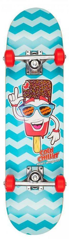 Rocket Complete Skateboard Mini Popsicle Cold Chillin 7.5 Inch