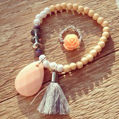 Ready for sunshine peach bracelet and rose ring labelbysimoon
