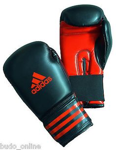 6b194850bbd Adidas Boxing Gloves Power 100 Sparring Black Red ADIPBG100 6 & 8oz Kids  Adults | Gloves | Boxing