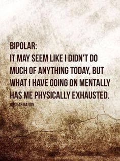 what I have going on mentally has me physically exhausted #bipolar #depression