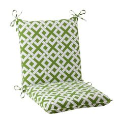 (CLICK IMAGE TWICE FOR UPDATED PRICING AND INFO) #home #cushions #homeimprovement #outdoor #patio #chair #chaircushions #replacamentcushion #patiochaircushion  see more chair cushions at http://zpatiofurniture.com/category/patio-furniture-categories/patio-chair-cushions/ - Pillow Perfect Indoor/Outdoor Boxin Squared Chair Cushion, Green « zPatioFurniture.com