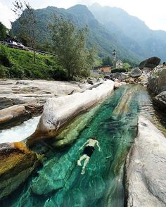 Valle Verzasca, Switzerland. Photo by: @chrisburkard