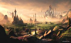 Matte painting is a technique often used to create landscapes, sets and scenes for movies, TV and print when building a physical set or traveling to a particular location to film is either cost prohib