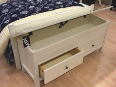 This storage bench was from Ikea. I love the idea of this in the guest room (when we have one again) for storing extra sheets, bedding, blankets etc. Seen on: It's the Little Things That Make a House a Home.
