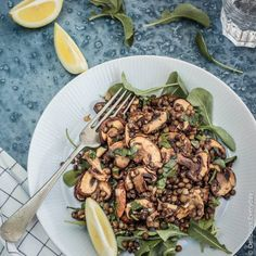 This vegan, gluten-free Mushroom and Lentil Salad is a healthy, light and easy salad that's perfect to bring along to your next BBQ or picnic.