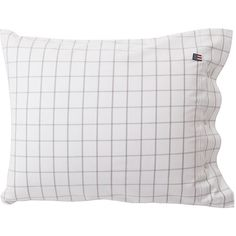 Lexington American Country Check Pin Point Oxford White/Grey... ($50) ❤ liked on Polyvore featuring home, bed & bath, bedding, bed sheets, white, gray bedding, grey duvet, stars and stripes bedding, grey pillow cases and textured white duvet
