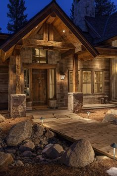 Exterior Paint Colors For House, Dream House Exterior, Timber Frame Homes, Timber House, Casas Country, Log Cabin Homes, Log Cabins, Rustic Houses Exterior, House Paint Color Combination