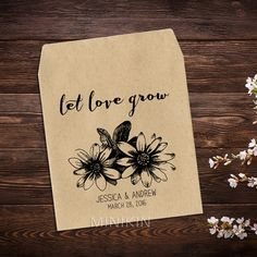 Seed Packet Favor Rustic Wedding Favor by MinikinSeedPackets