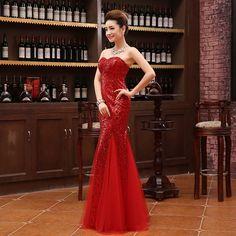 2016 Moda 3D Lace Strapless Vestido de Noite Longo Casamento Chinês Qipao Cheongsam Das Mulheres Vestidos de Festa Vestido Frete Grátis