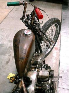 twowheelcruise:  life on a motorcycle . Harley HarleyDavidson Shovelhead Springer Gas Tank Engraving Details