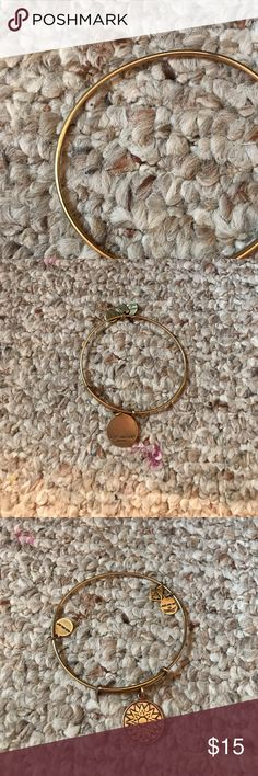 Alex and ANI Authentic Alex and ani rose gold bracelet ! Great condition ! Energy sign Alex & Ani Jewelry Bracelets