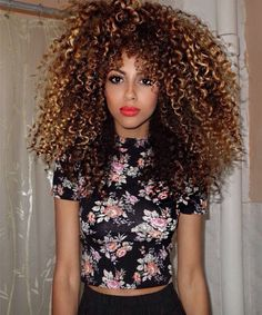 Stunning Natural Curly Long Hairstyles 2015