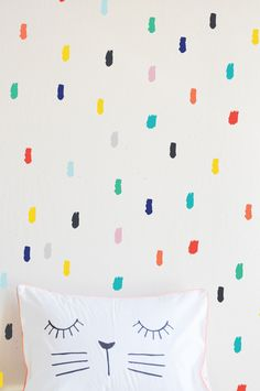 Summer Time Palette Finger Painted Lines - WALL DECAL