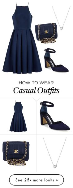 """""""casual"""" by zgracia on Polyvore featuring Chi Chi, Manolo Blahnik, Links of London and Chanel"""