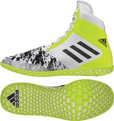 The Impact Wrestling Shoes featuring seamless upper and advanced outsole technology. The two part upper is constructed of synthetic leather and in the forefoot area and breathable mesh on the heel area. The outsole offers maximu Adidas Wrestling Shoes, Men's Wrestling, Sport Gymnastics, Olympic Gymnastics, Olympic Games, Olympic Badminton, Turf Shoes, Shoe Gallery, Training Shoes