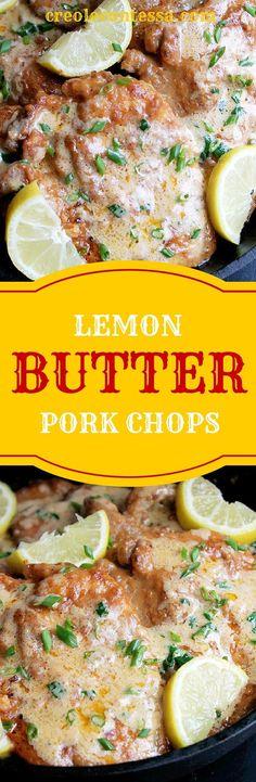 Pork Chops with Lemon Thyme Cream Sauce-Creole Contessa