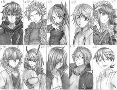 anime group drawings - Google Search