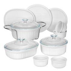 CorningWare 1083955 French 14-Piece Bakeware Set, White by World Kitchen (PA), http://www.amazon.com/dp/B002G2FWNA/ref=cm_sw_r_pi_dp_B4ohsb0VVPCKR
