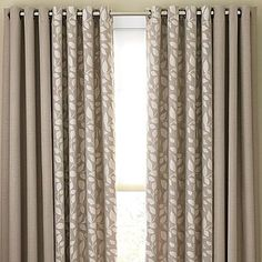 Possible choice for sliding door and breakfast nook--Cindy Crawford Style® Sonoma Grommet-Top Drapery Panels in sullivan khaki or taupe gray