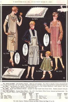 what-i-found: Nuns Boilproof Thread Catalog 1923 - Aprons!