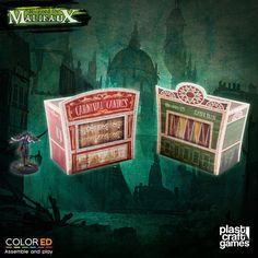 Plast Craft ColorED Malifaux Terrain Circus Stand Set