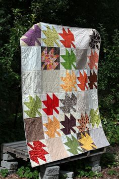 Anticipating Autumn: A Modern Maples Quilt | Flickr - Photo Sharing!