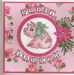 nog een magnoliavarkensstempelkaartje