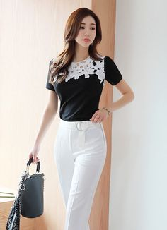 Korean Fashion – How to Dress up Korean Style – Designer Fashion Tips Korean Fashion Trends, Korean Street Fashion, Fall Outfits For Work, Casual Fall Outfits, Business Dresses, Business Outfits, Fashion Pants, Fashion Outfits, Womens Fashion