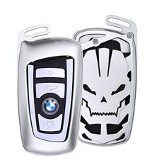 Key Fob Cover for BMW 1-Series 2 3 4 5 6 7 Series X3 X4 M2 M3 M4 M5 M6 Smart Key Aluminum Auto Key Protector for Men /& Women Silver M.JVisun Key Covers for BMW Car Remote Key