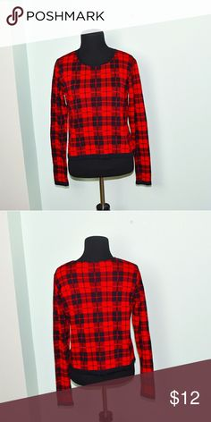 Super Cute Red Plaid Design Flowy Top In excellent condition! Very comfortable, soft, and lightweight! Buy 3 items and get 1 free plus 15%off your purchase total! Tops