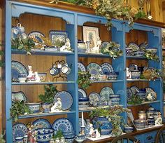 cabinet display for polish pottery