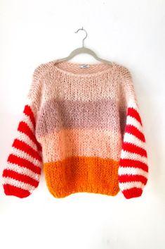 Nudish Stripe Big Mohair Sweater
