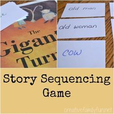 Enhance your learning with this fun reading game to go along with the book The Gigantic Turnip. This Gigantic Turnip story sequencing game is easy to prep and so much fun to play. Writing Activities, Preschool Activities, Fun Reading Games, Sequence Game, Early Years Maths, Story Sequencing, Teacher Boards, Thematic Units, Character Education