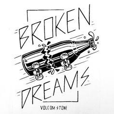 Broken Dreams Volcom Tee jamiebrowneart.com