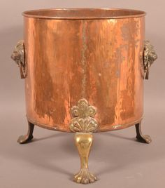 Vintage Copper and Brass Jardinière.