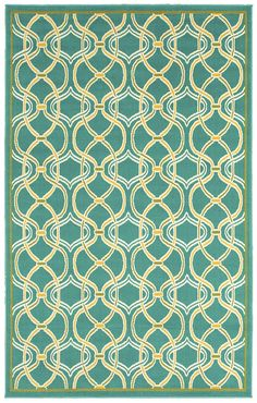 """Area Rug in style """"Rings"""" color Turquoise - by Shaw Floors"""