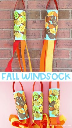 Fall Windsock Craft for Kids -Easy fall craft for preschoolers! Easy fall windsock craft for preschoolers and toddlers. Fun fall craft for kids to explore the colors of the fall season. crafts for kids easy Fall Windsock Craft for Kids Kids Crafts, Halloween Crafts For Toddlers, Thanksgiving Crafts For Kids, Daycare Crafts, Toddler Crafts, Preschool Crafts, Fall Crafts For Preschoolers, Harvest Crafts For Kids, Garden Crafts For Kids
