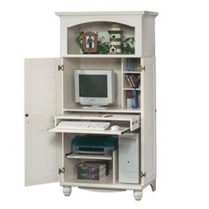 contemporary computer armoire desk computer armoire. Amazon.com - Antique White Shutter Door Computer Desk Armoire Contemporary