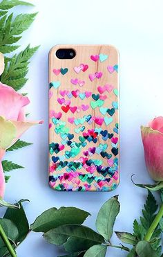 Beautiful heart patterns! Design your own wood cases at @casetify