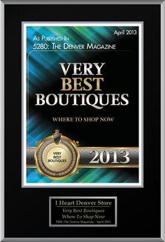 I Heart Denver won an award from 5280 Magazine!  Yay!